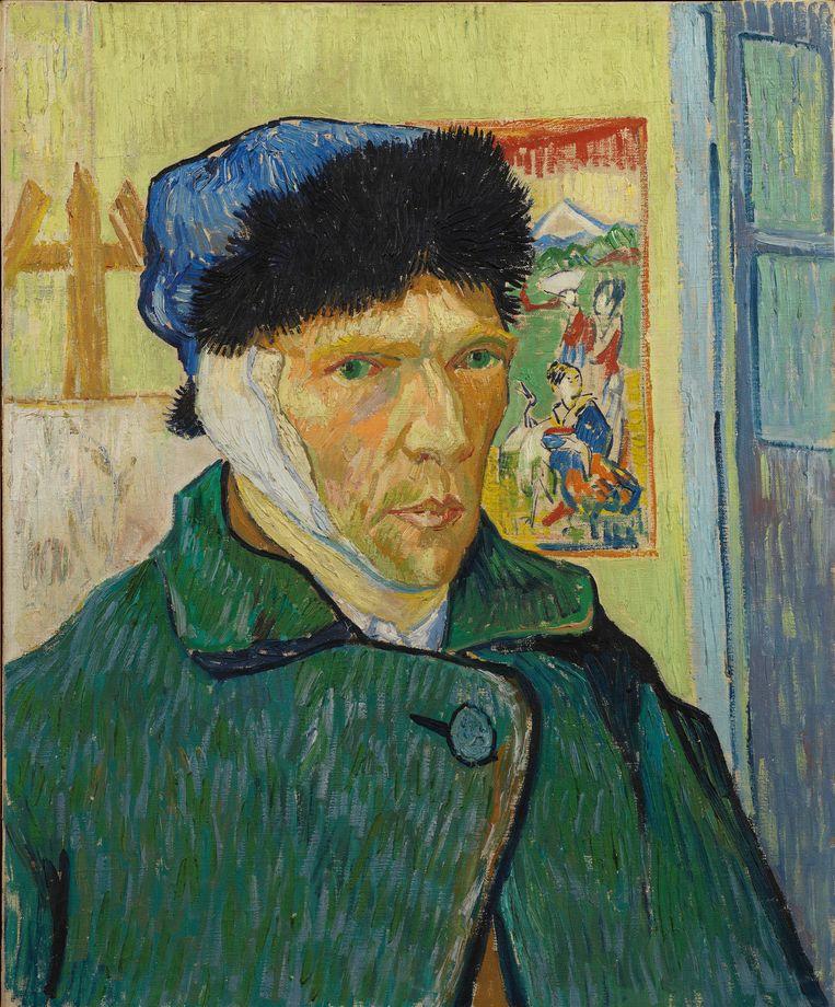 Zelfportret met verbonden oor, 1889, Vincent van Gogh. Beeld Van Gogh Museum