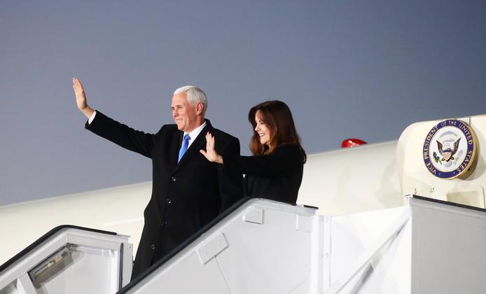 Le vice-président Mike Pence et son épouse Karen.