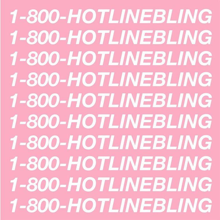 Artwork voor het nummer Hotline Bling van rapper Drake. Beeld