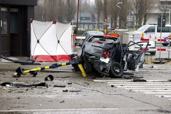 Ravage na het ernstige ongeval in Antwerpen.