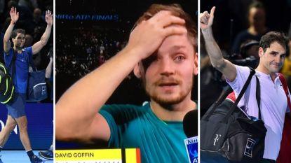Weergaloze Goffin stunt opnieuw! Hij klopt na Nadal nu ook Federer en speelt de finale van de Masters na winst in drie sets (2-6, 6-3 en 6-4)
