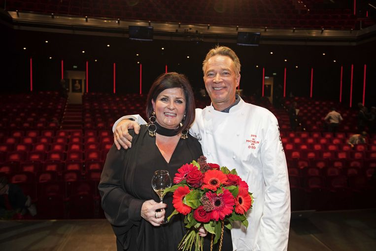 Jannis (r) en Claudia Brevet kregen een derde ster in de Michelingids Beeld ANP