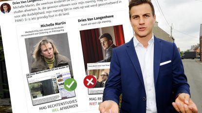 """Dries Van Langenhove vergelijkt zichzelf met Michelle Martin: """"Zij mag studies wel afwerken en ik niet"""""""