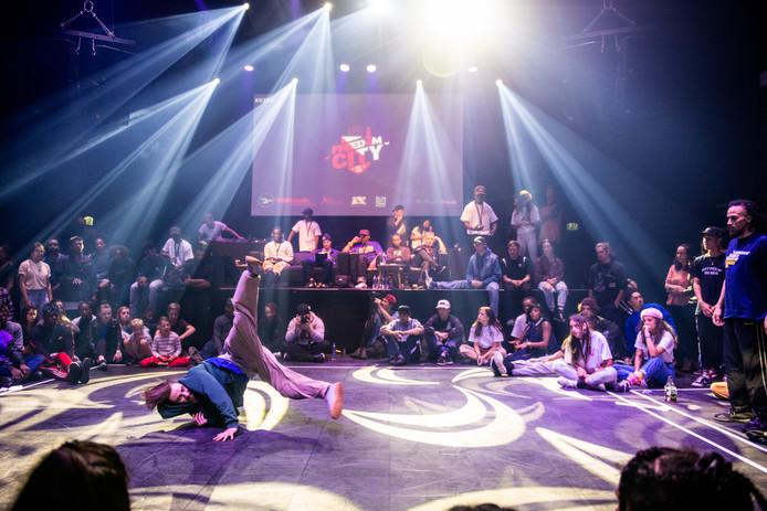 Op de laatste Utrechtse Nieuwjaarsduik in januari 2019 was er een dance battle van Freedom City.