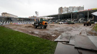 Charleroi staat voor race tegen de klok om grasmat klaar te krijgen voor match van morgen (!) tegen Anderlecht