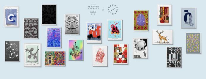 Kunstenaars ontwerpen prints geïnspireerd op de collectie van het Museum Plantin-Moretus.