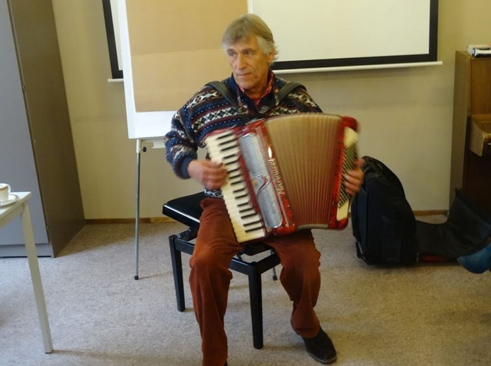 Edy ten Berge sloot de dag muzikaal af.