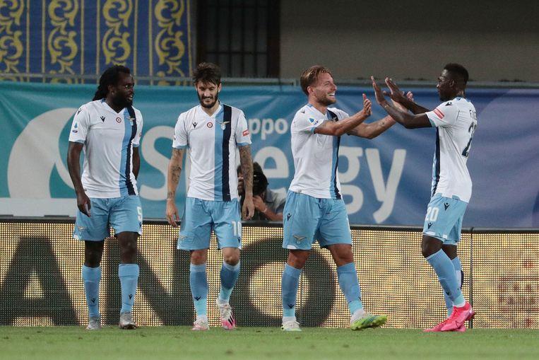 Hattrick Immobile helpt Lazio voorbij Verona, assist voor Jordan ...