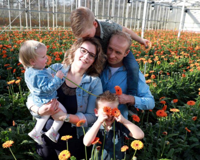 Hans, Audrey en hun kinderen.