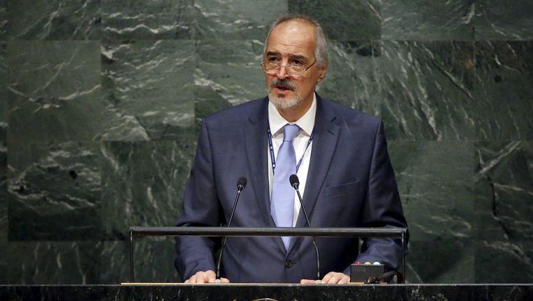 De Syrische VN-ambassadeur Bashar Jaafari.