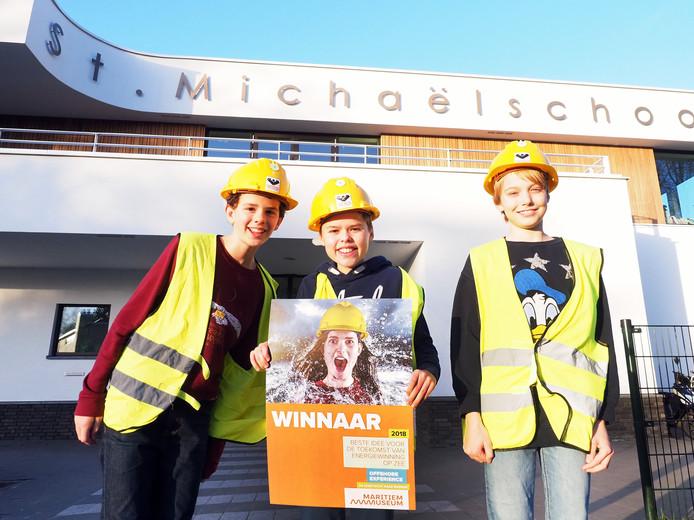 Tom, Thijs, Wessel hadden het beste idee voor duurzame energie op zee in 2018.