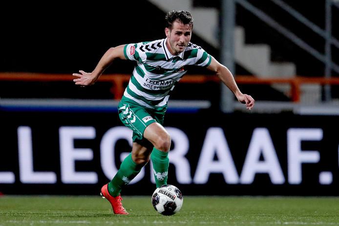 Paco van Moorsel in het shirt van Go Ahead Eagles