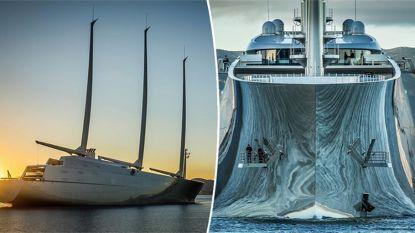 Gigantisch privéjacht van 407 miljoen euro meert aan in Gibraltar
