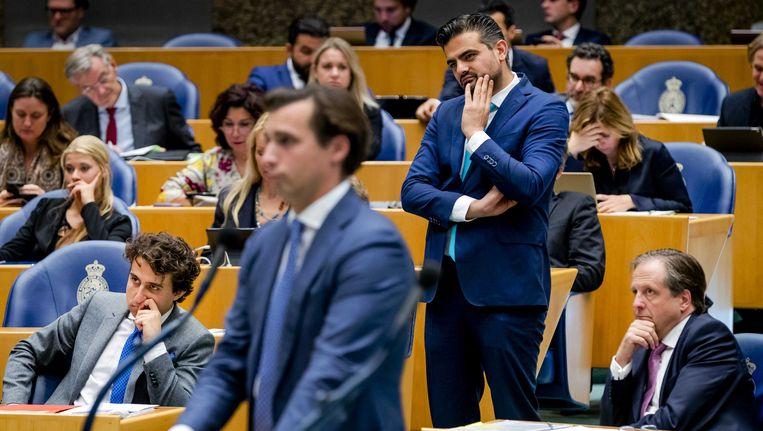 Baudet (Forum voor Democratie) bij de interruptiemicrofoon. Beeld anp