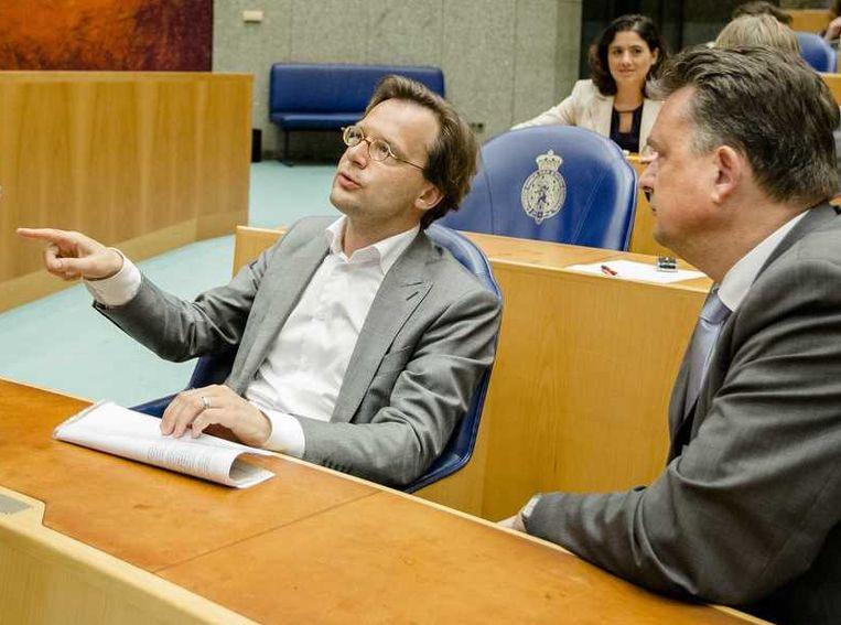 SP-kamerlid Ronald van Raak (L) en SP-voorman Emile Roemer. Beeld anp