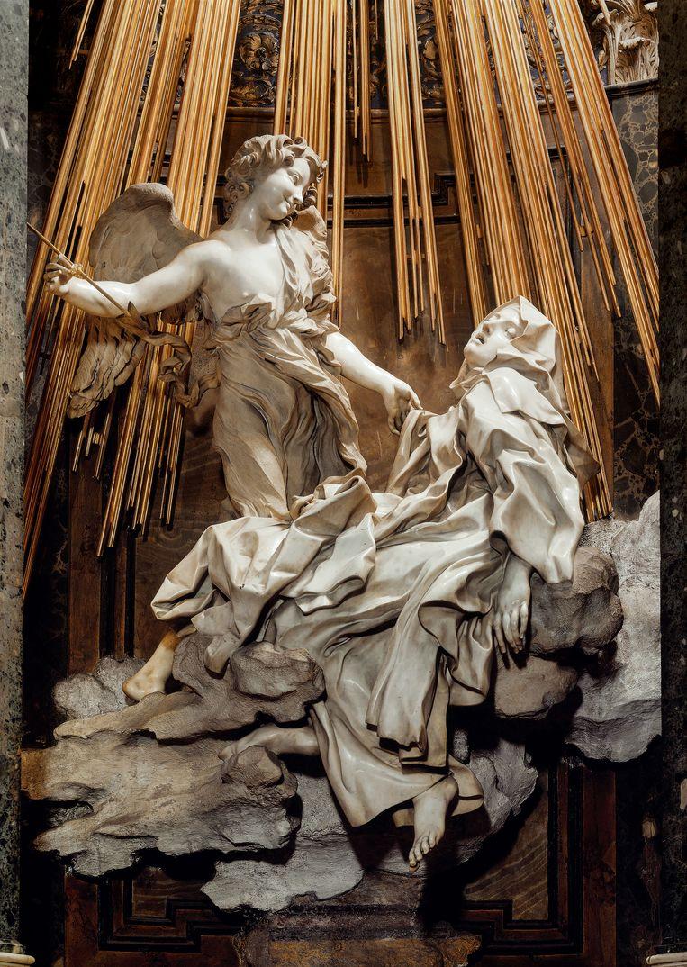 Gian Lorenzo Bernini, 'De extase van St.-Theresia van Ávila' (detail), 1652. Beeld Scala, Florence