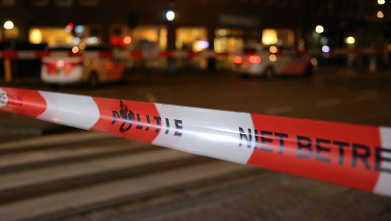 Een politie-afzetting. De foto is gemaakt op een andere plaats delict. Beeld anp