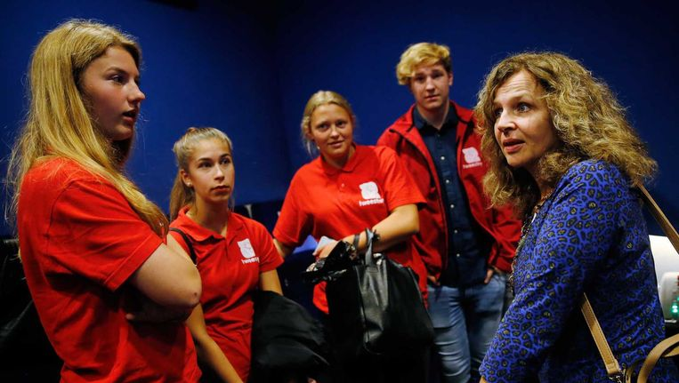 Edith Schippers gaf maandag het startschot voor een nieuwe publiekscampagne tegen depressie. Beeld ANP