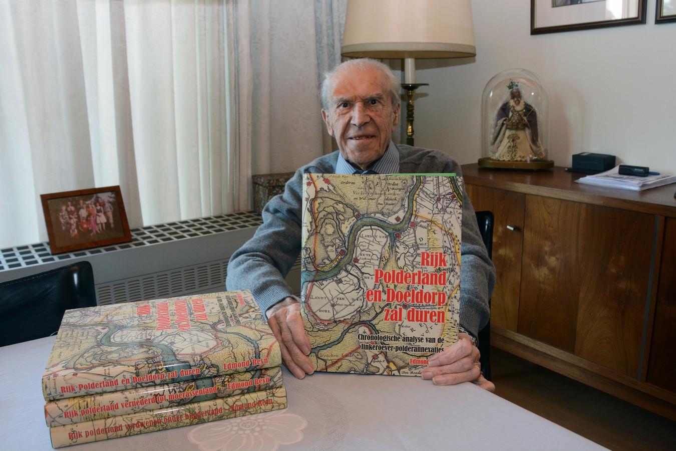 Edmond Reyn stelde anderhalf jaar geleden nog het laatste boek voor van een indrukwekkende trilogie over het ontstaan van de Waaslandhaven en de teloorgang van de polders.