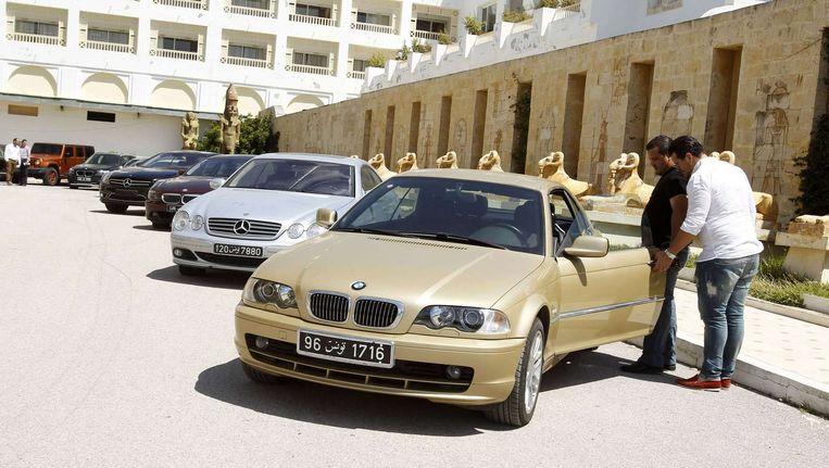 Enkele van de wagens van de voormalige dictator Ben Ali.