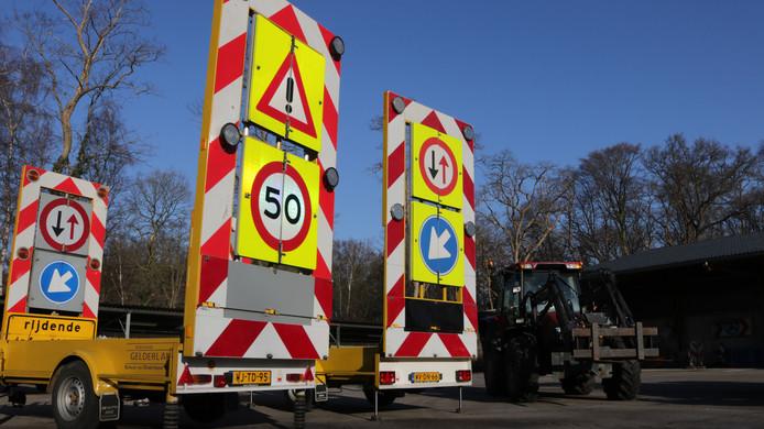 Ook rijdende afzettingen worden geveild.