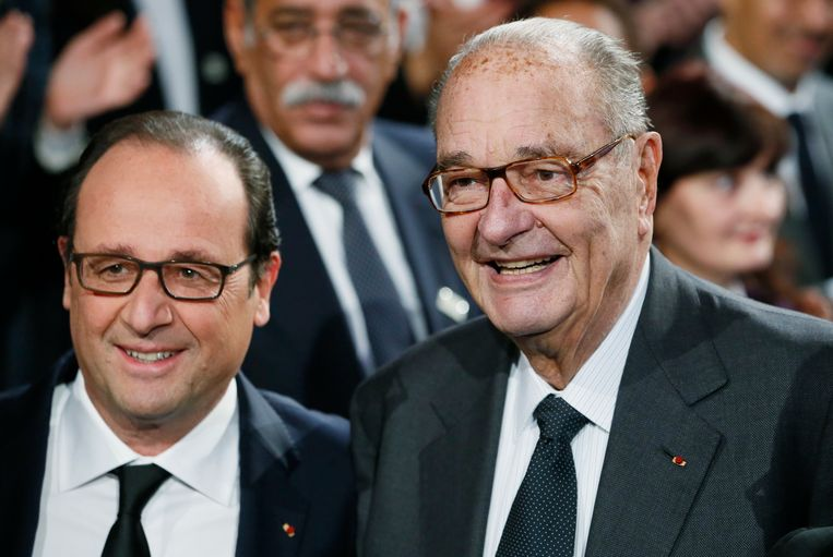 Jacques Chirac met François Hollande in november 2014.