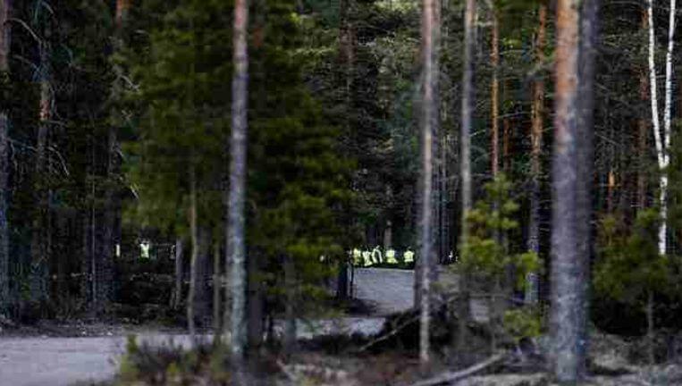 Het vliegtuig crashte in een bos in de buurt van het vliegveld van Jämijärvi Beeld reuters