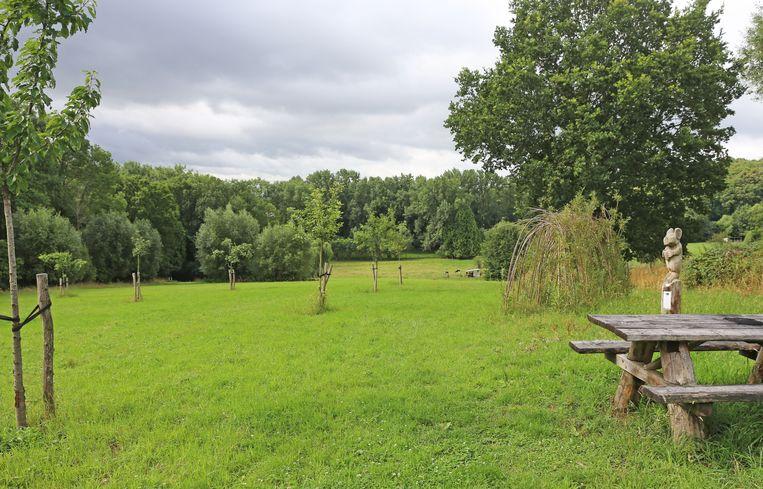 De fruitboomgaard naast de Kruisborrekapel is een ideaal plekje om te picknicken.