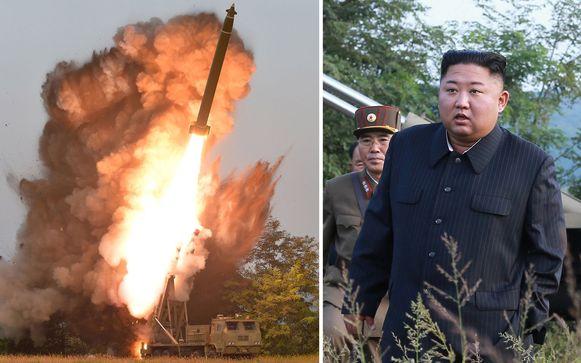 Kim Jong-Un leidde persoonlijk de test, melden staatsmedia uit Noord-Korea.