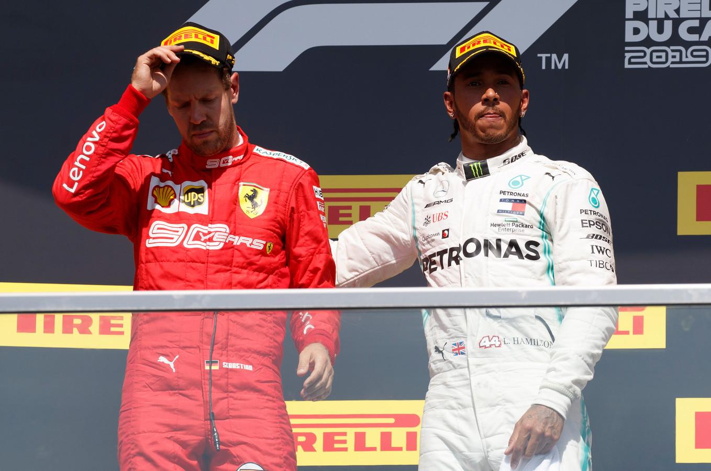 Lewis Hamilton a tiré Sebastian Vettel sur la 1e marche avec lui