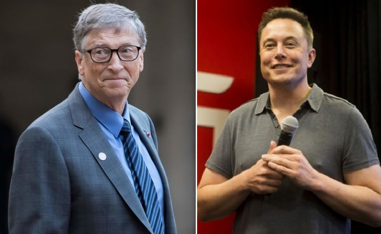 Bill Gates en Elon Musk