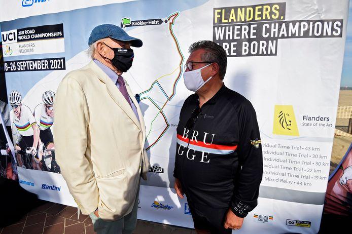 Leopold Lippens (burgemeester Knokke) en Dirk De fauw (burgemeester Brugge)