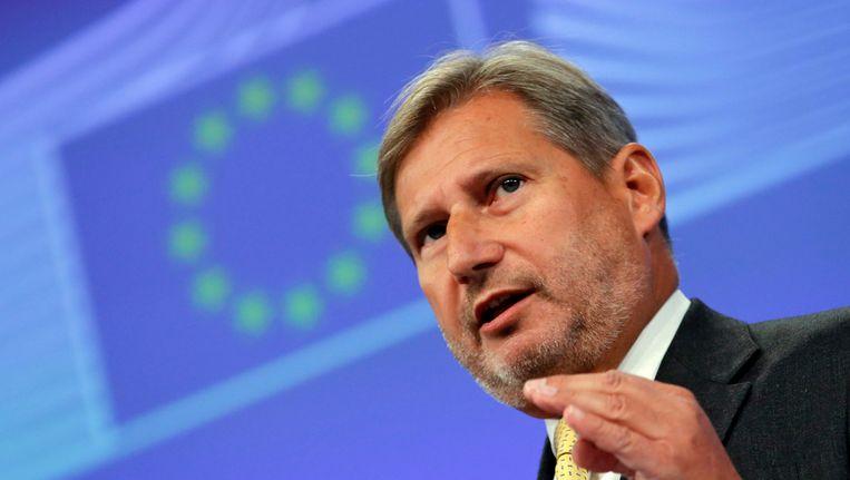 Eurocommissaris voor Nabuurschapsbeleid Johannes Hahn.