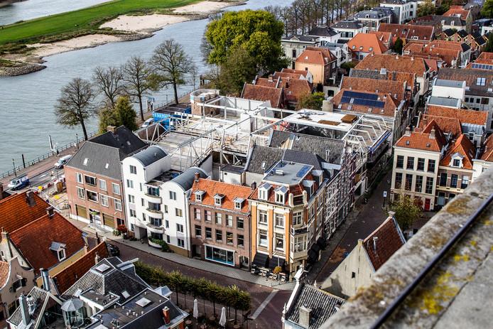De Viking vanaf de Deventer toren