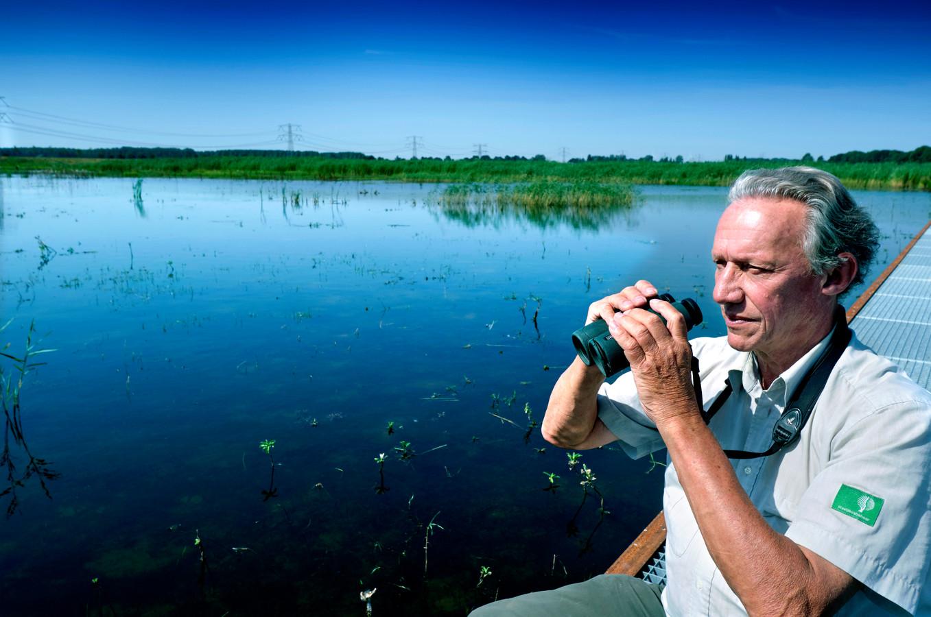 Boswachter Jacques van der Neut in de Biesbosch