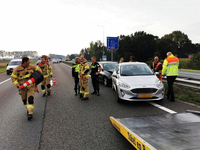 Ongeval op de A12 Zevenaar in de richting van Oberhausen naar Arnhem