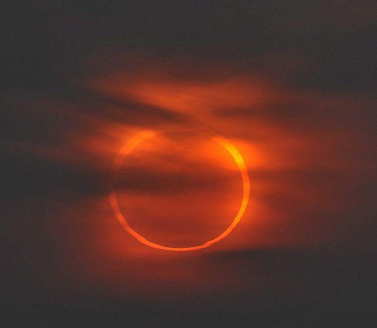 Een vuurring eclips in China (2010)
