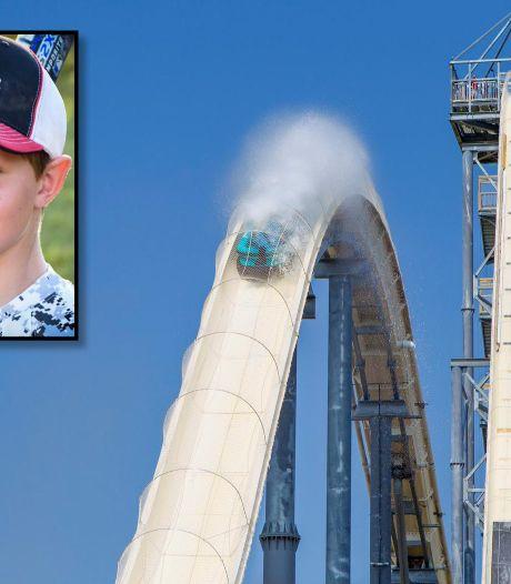 '10-jarige Caleb werd onthoofd op 's werelds hoogste waterglijbaan'