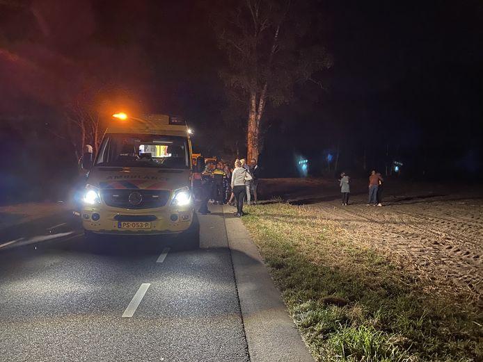 Het ongeluk gebeurde op de Garderbroekerweg.