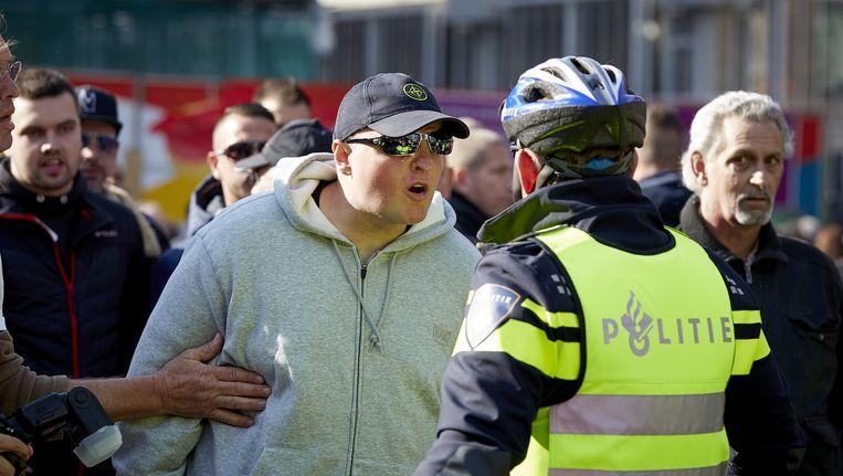 Een Pegida-demonstratie in Utrecht liep in oktober vorig jaar uit op opstootjes tussen voor-, tegenstanders en de politie. Beeld anp