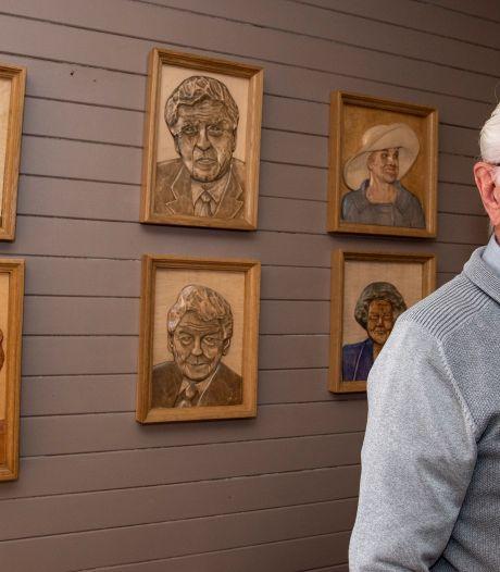 Martien (89) maakt portretten van hout: 'Johan Cruijff wacht op voltooiing'