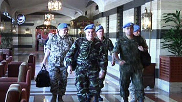 Waarnemers komen in Syrië aan Beeld afp