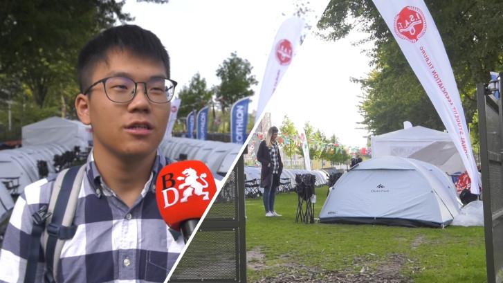 Tentenkamp als noodoplossing voor internationale studenten