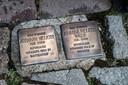 Stolpersteine ter herdenking aan de Tweede Wereldoorlog