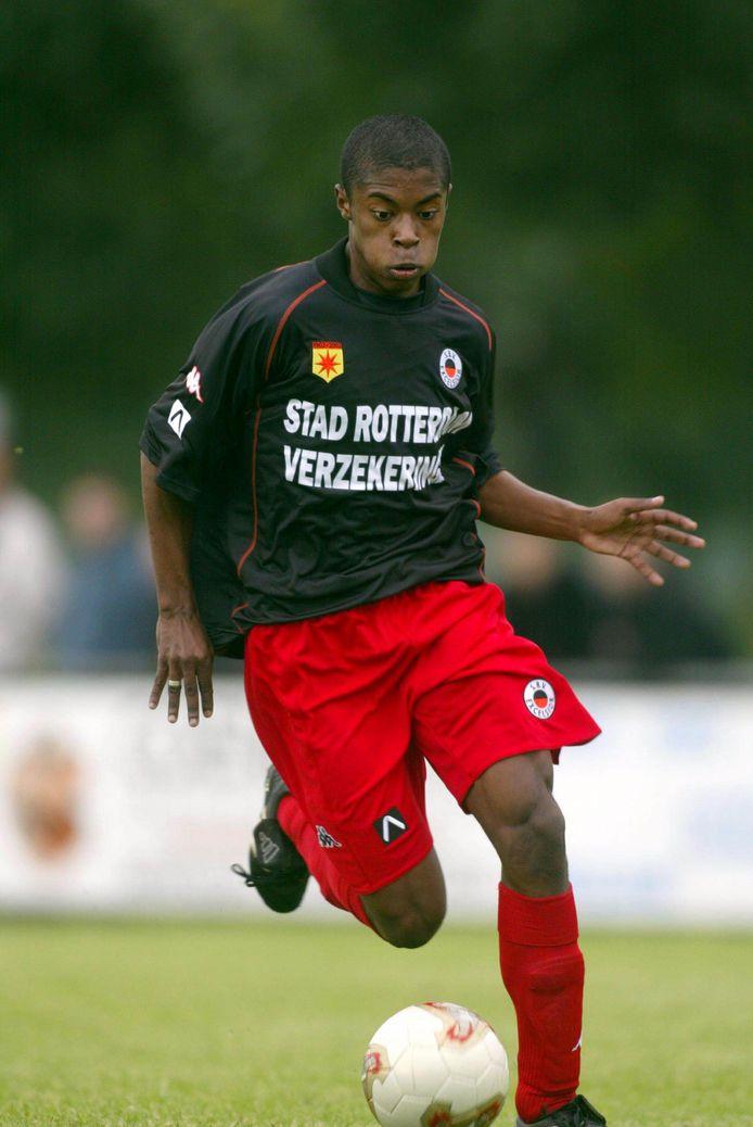 Michel Bastos in 2002 als speler van Excelsior.