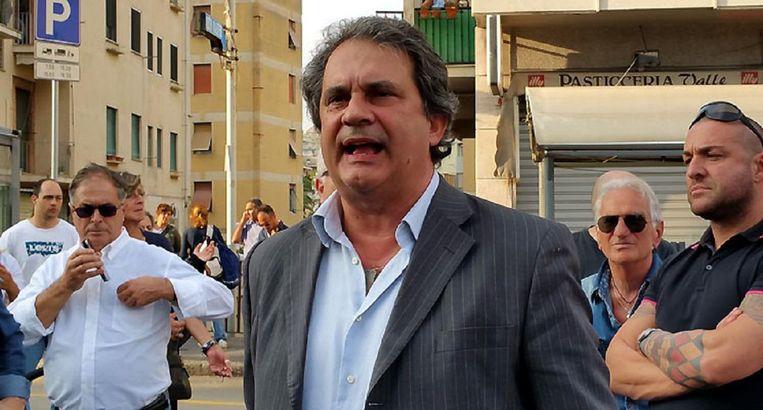 Roberto Fiore: 'Ik heb er geen probleem mee als je ons neofascistisch noemt.' Beeld null