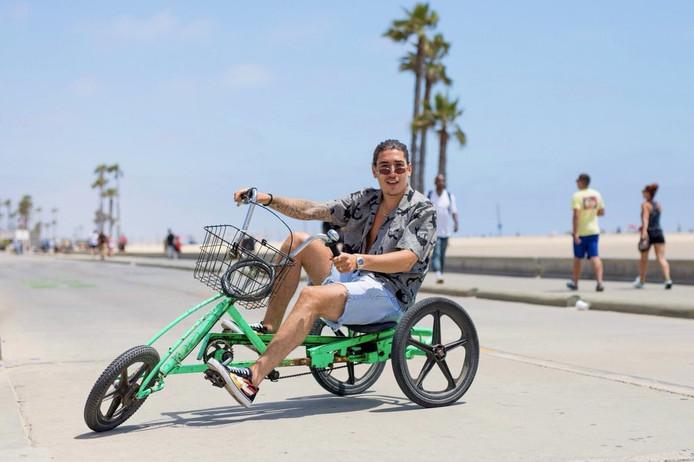 Hector Bellerin in Los Angeles.