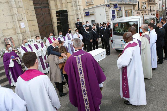 De begrafenis van Victorine.