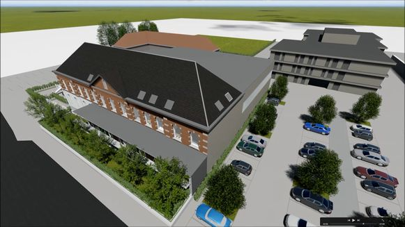 Zo zullen de VBS Huise en de sporthal er gaan uitzien.