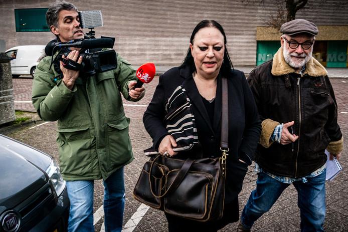 Advocaat Inez Weski verlaat de extra beveiligde gevangenis in Vught waar haar cliënt Ridouan Taghi vastzit.